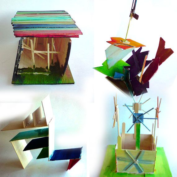 Balsa Wood Sculptures Or Architectural Wonders Created By Kids