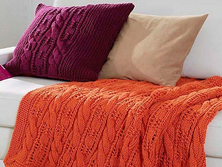 Tutoriel DIY: Tricoter un plaid et une housse de coussin via DaWanda.com