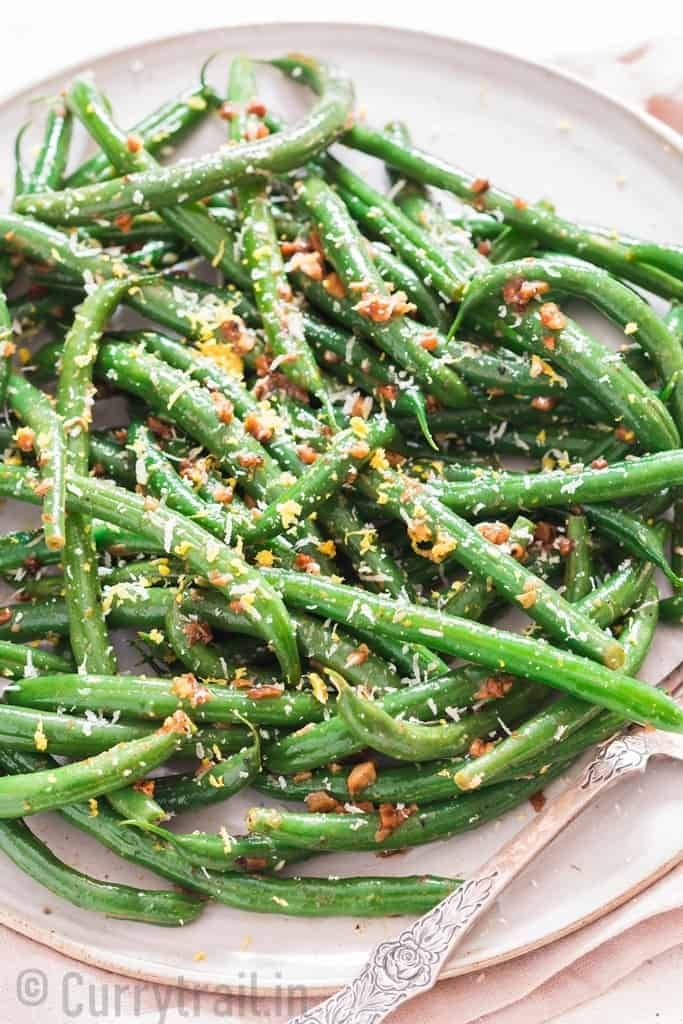 Sauteed Green Beans With Garlic And Parmesan Recipe Green