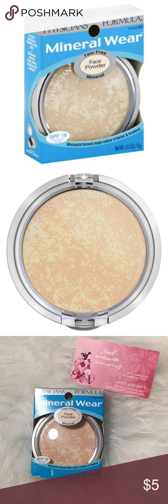 Physicians Formula Mineral Wear Face Powder🌹 Brand New