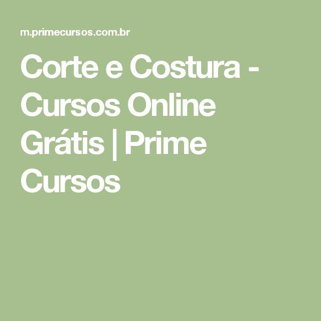 Corte e Costura - Cursos Online Grátis | Prime Cursos