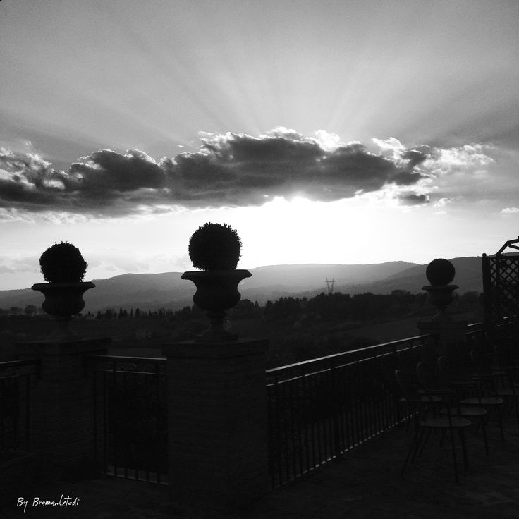 Sunset in b&w, April 2016
