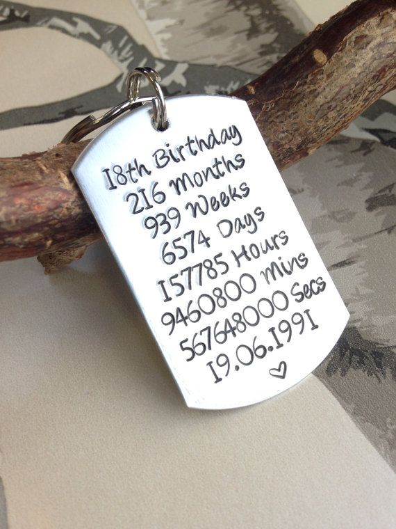 18th Birthday Gift - 18th Birthday - Birthday Gift - Gift for 18th - Birthday Present - Personalised Keyring - Personalized Keychain - 18