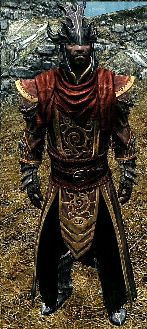 """The Flare Knight"" by Alastor Dragonscale Helmet Telvanni Robes Dragonscale Gauntlets Drgaonscale Boots"