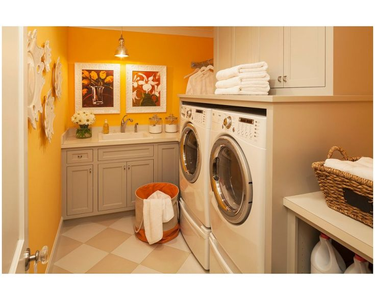 grey desk cabinets with sink in sweet orange laundry room of Inspiring Utility Cabinets for Laundry Room