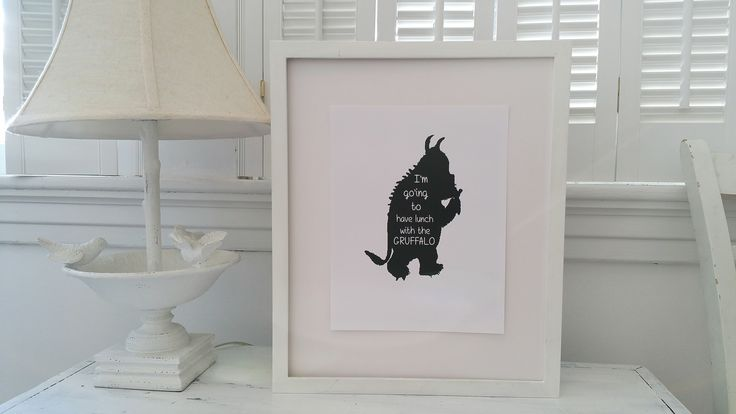 'Off to lunch' - Gruffalo wall prints. A children's classic, perfect for your walls