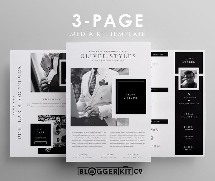 """Dapper"" | 3-Page Media Kit Template"