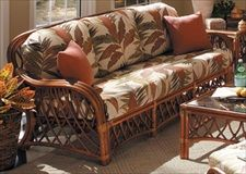 Rattan and Wicker Sleeper Sofas | Island and Florida Sleeper Sofas - Antigua Queen Sleeper Sofa