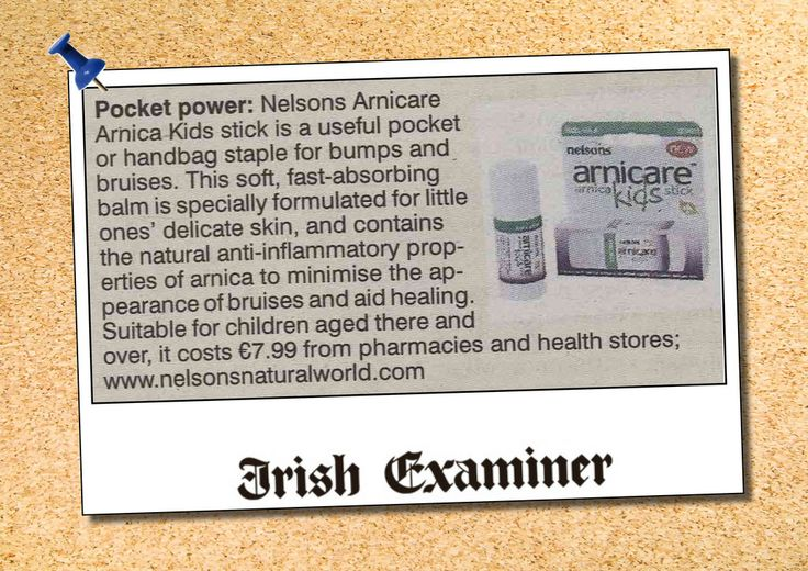 Nelsons Arnicare in Irish Examiner | wholefoods.ie