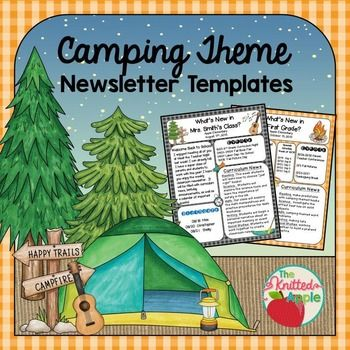 Do you have a classroom or school camping theme this year and need matching newsletters? Newsletters are a wonderful way to communicate curriculum news, reminders, and other important information to parents. These editable templates make it easy!~~~~~~~~~~~~~~~~~~~~~~~~~~~~~~~~~~~~~~~~~~~~~~Please note: This product is also offered as part of a bundle of two products- Camping Theme Newsletter Templates and Camping Theme Editable Signs.