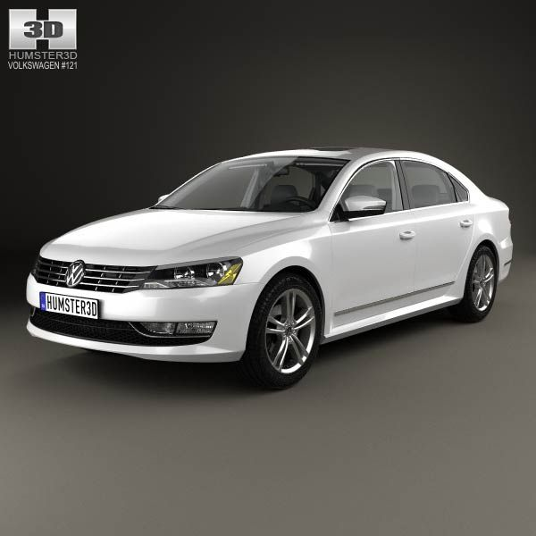 Volkswagen Passat (B7) with HQ interior 2011 3d model from humster3d.com. Price: $125