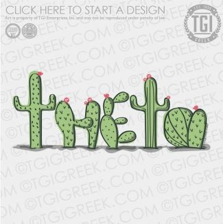 Kappa Alpha Theta | KAT | ΚΑΘ PR | PR Shirt | Sorority PR | Cactus | TGI Greek | Greek Apparel | Custom Apparel | Sorority Tee Shirts | Sorority T-shirts | Custom T-Shirts