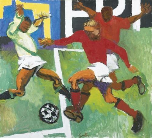 I calciatori - Renato Guttuso