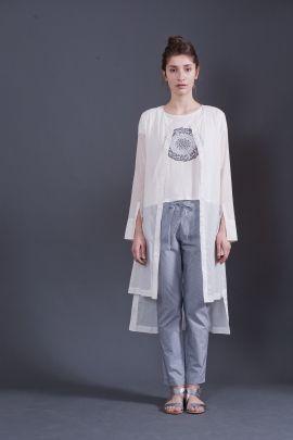 Long white shirt | Adelina Ivan Studio