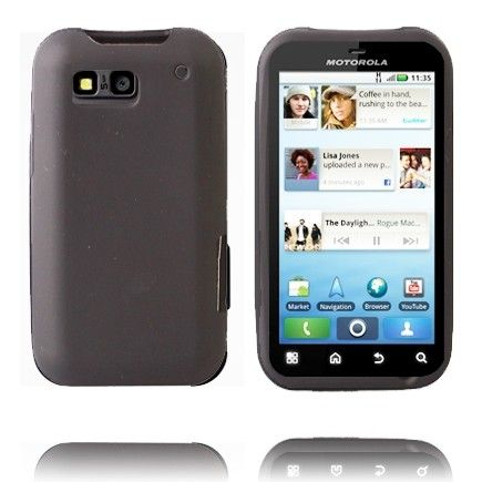 Soft Shell (Sort) Motorola Defy Cover