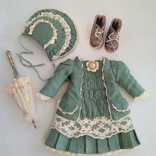 #одежда#кукла #текстильная #шарнирная #антикварная