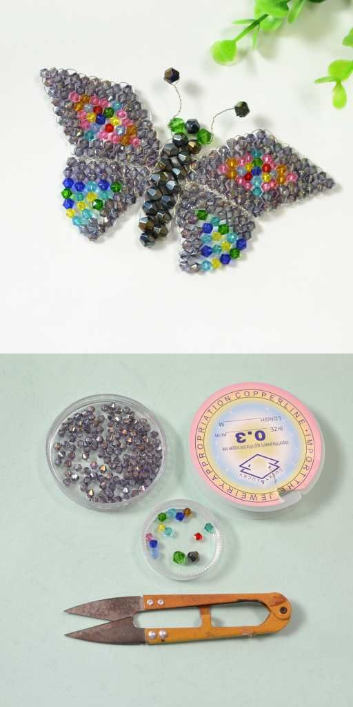 Craft Ideas On How To Make Butterfly With Glassbeads Jewelry