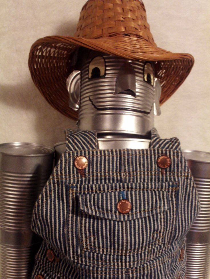 Gardener tin can man wizard of oz yard art decor garden for Tin man out of cans
