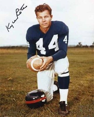 Kyle Rote (1927 - 2002) Football player, in addition to playing for many years with the New York Giants of the NFL he was the first president of the NFL Players Association