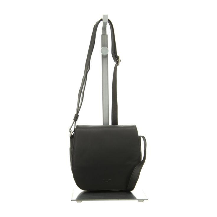 NEU: Voi Leather Design Handtaschen Überschlagtasche - 20750 SZ - schwarz -
