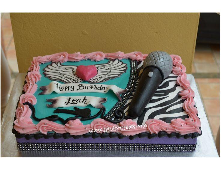 Girl Rock Star Cake www.trinitystreats.com