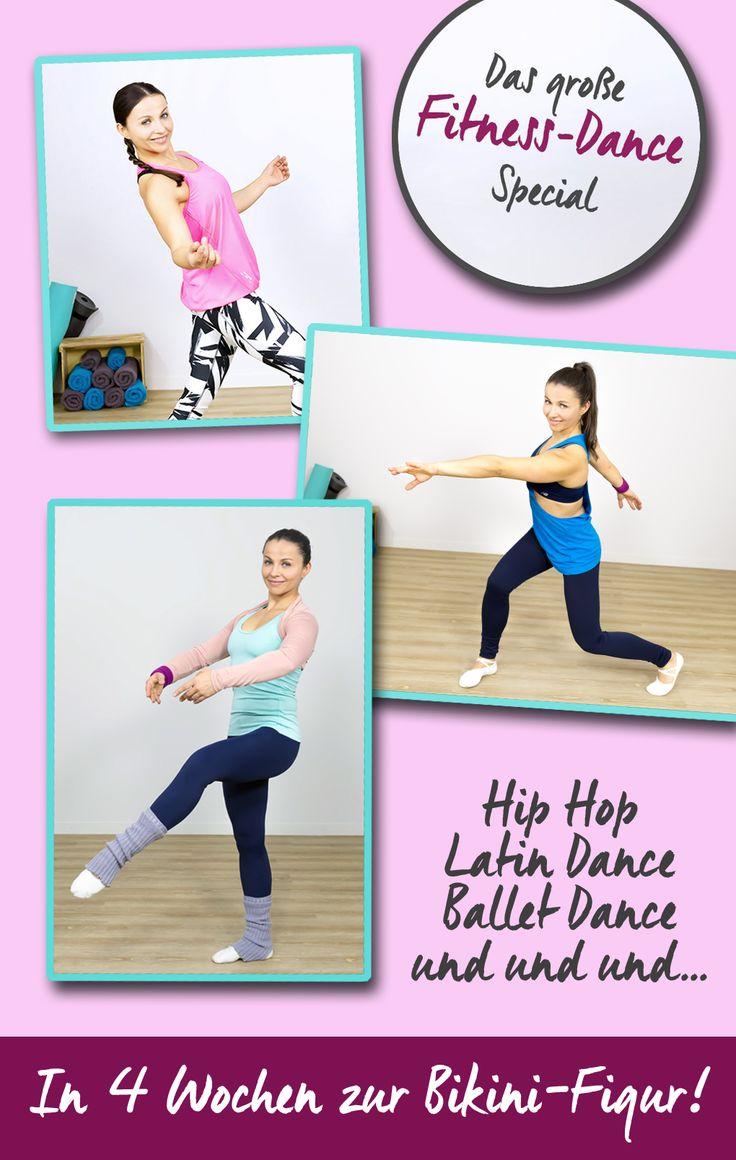 Klickt auf den Pin und macht mit beim großen Fitness-Dance-Special - in 4 Wochen zur Bikini-Figur!