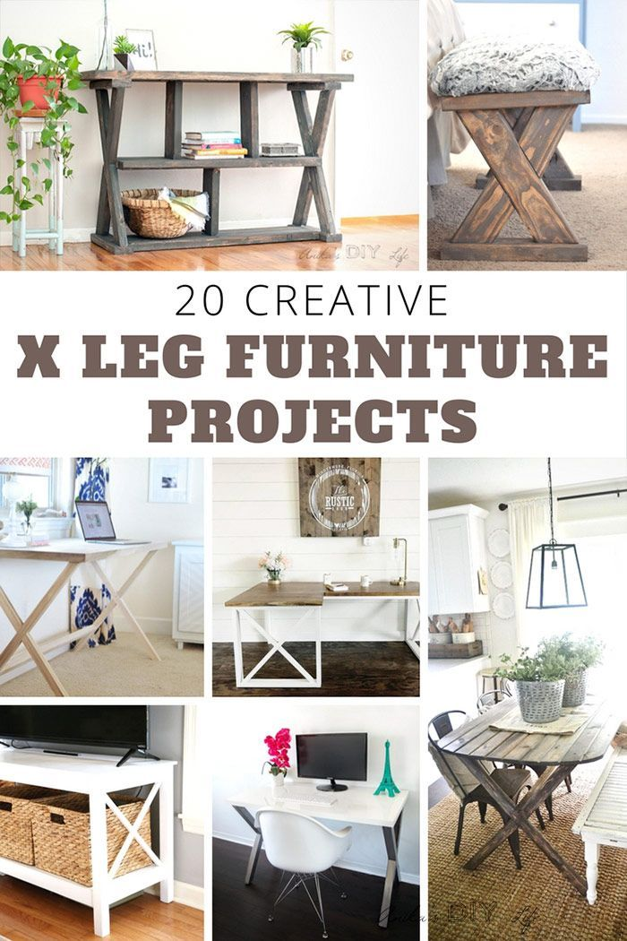 WOW!! These are amazing projects! | X-leg furniture |X-table X-leg desk | woodwo...