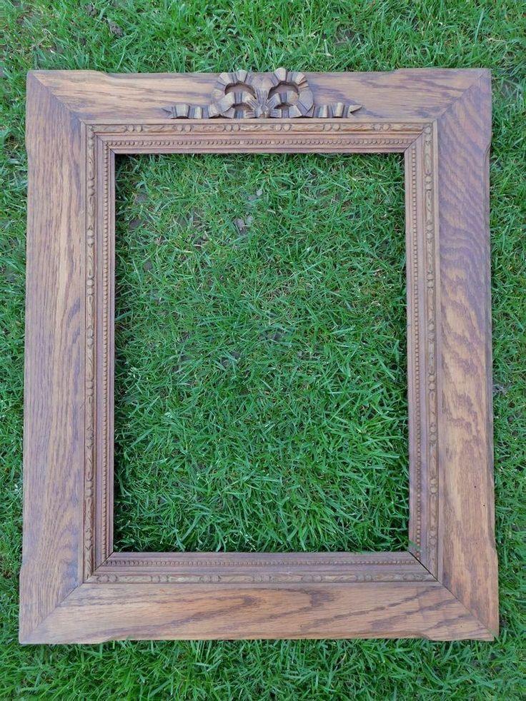cadre ancien en bois surmonte d 39 un noeud sculpte 45cmx55cm cadr704 le charme des cadres. Black Bedroom Furniture Sets. Home Design Ideas