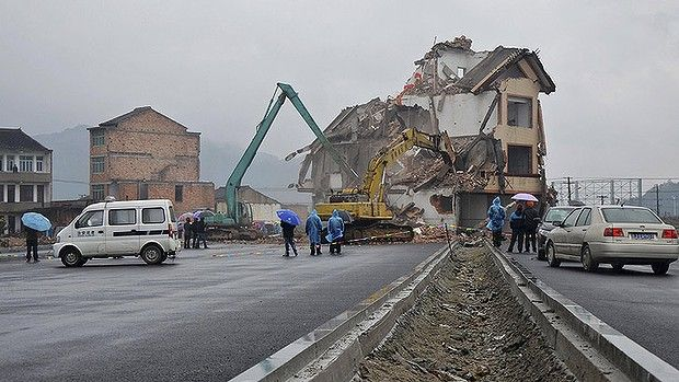 China is funny... The Zhejiang house is demolished.