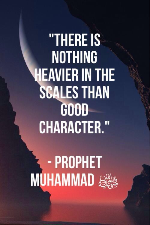 Good character is the best on the scales! ⚖️  #GoodCharacter #Islamicbehaviour #hadith