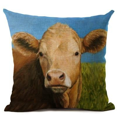 Farm Animal Collection Pillow Covers Farm Animals Animals Cow