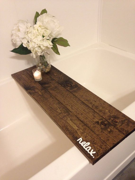 Bath Tub Tray Caddy Bath Tray Bath Caddy by WorryLessCraftMore