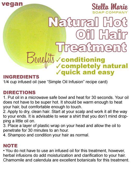 Natural Hot Oil Hair Treatment