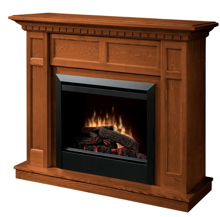 """Dimplex Caprice electric fireplace in Oak, with 23"""" firebox, $799.00 CAD."""
