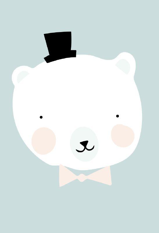 eef lillemor 'a3 poster mr polar | baby room | pinterest, Deco ideeën