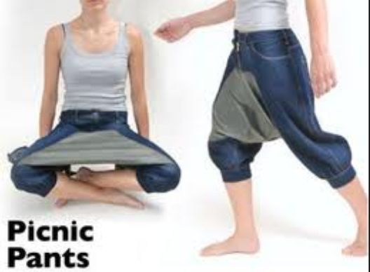 stupid invention, humor, funny, entertainment, picnic pants