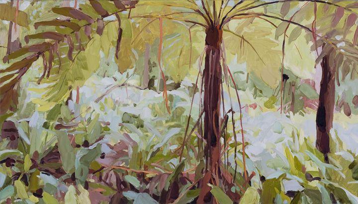 Mary Tonkin Enfold, Kalorama 2011 oil on linen 42 x 74 cm SOLD