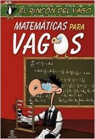 """Portada """"Matemáticas para vagos"""""""