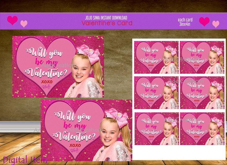 jojo siwa valentines day cards customized item jojo siwa
