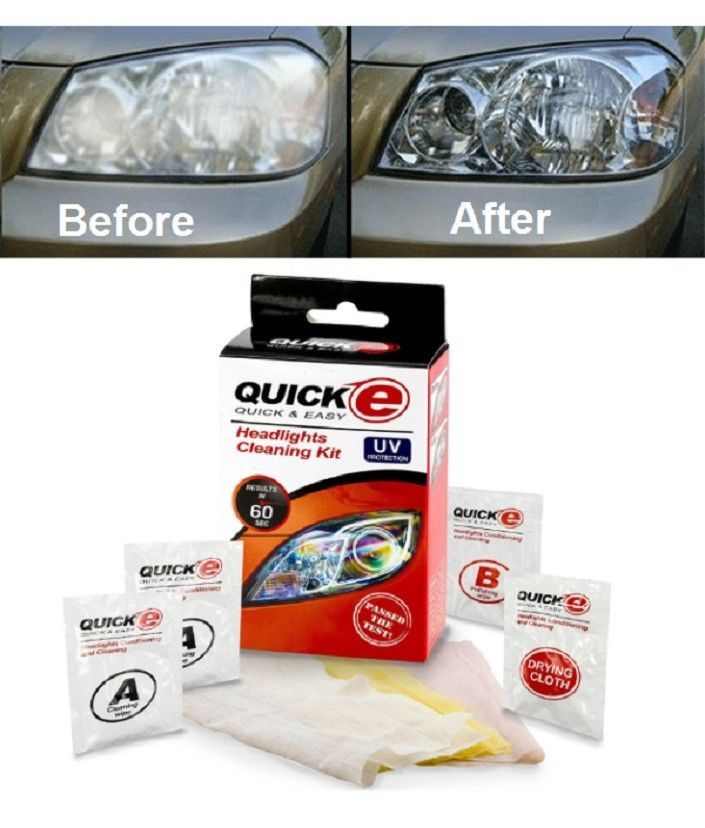 Headlight Restoration Cleaning Renewal Kit For Cars & Bike Results In 60 Seconds #HA