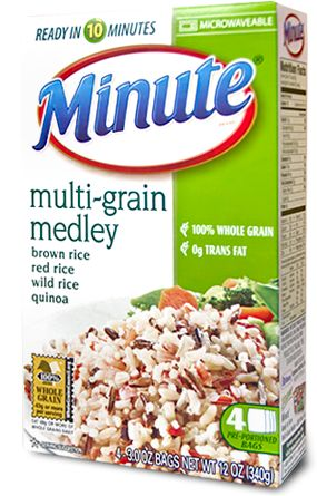 multi-grain medley from Minute Rice.  Very tasty and only 10 minutes to cook.  Box has 4 pouches (2 serving/pouch).  My new go-to side dish!  It has brown rice, thai red rice, wild rice & quinoa.
