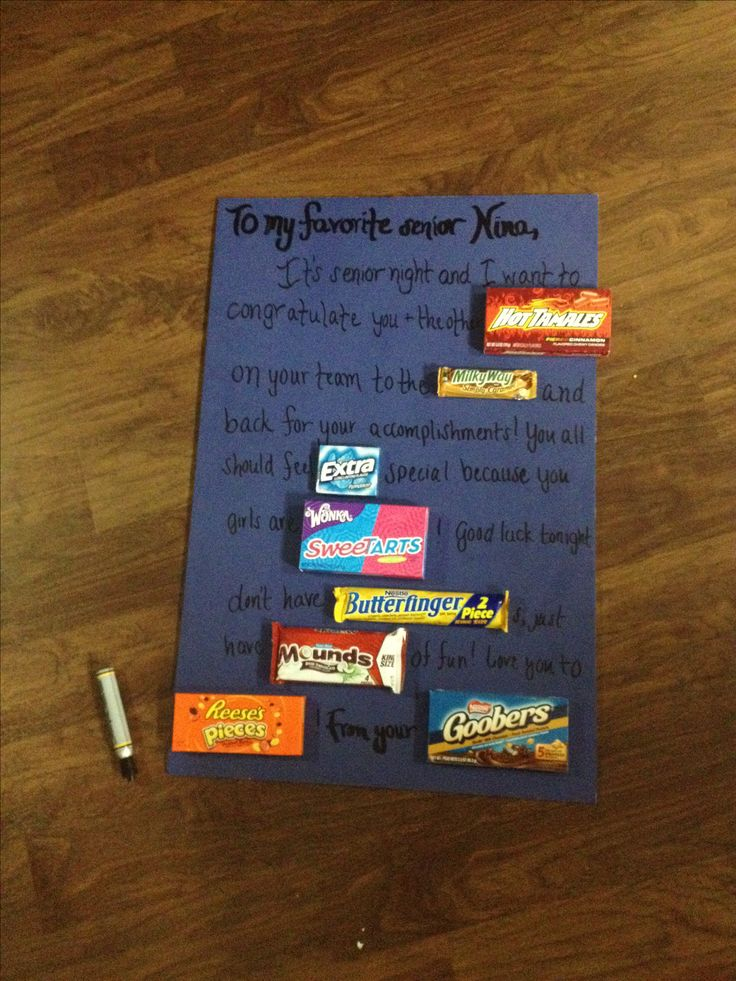 Senior Night Candy Congratulations Card | Crafts ...