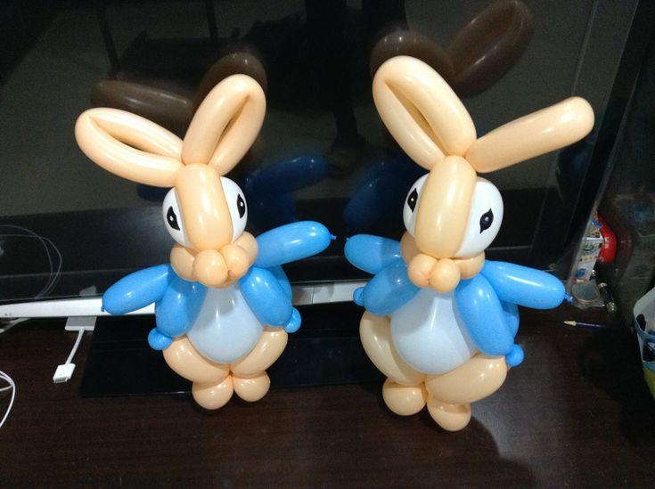 balloon twisting | 造型氣球 彼得兔 Peter rabbit balloon twisting - YouTube