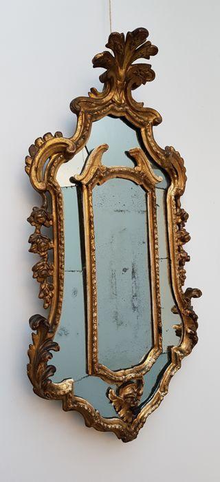 Rococo verguld houten spiegel - Zuid Duitsland  - midden 18e eeuw