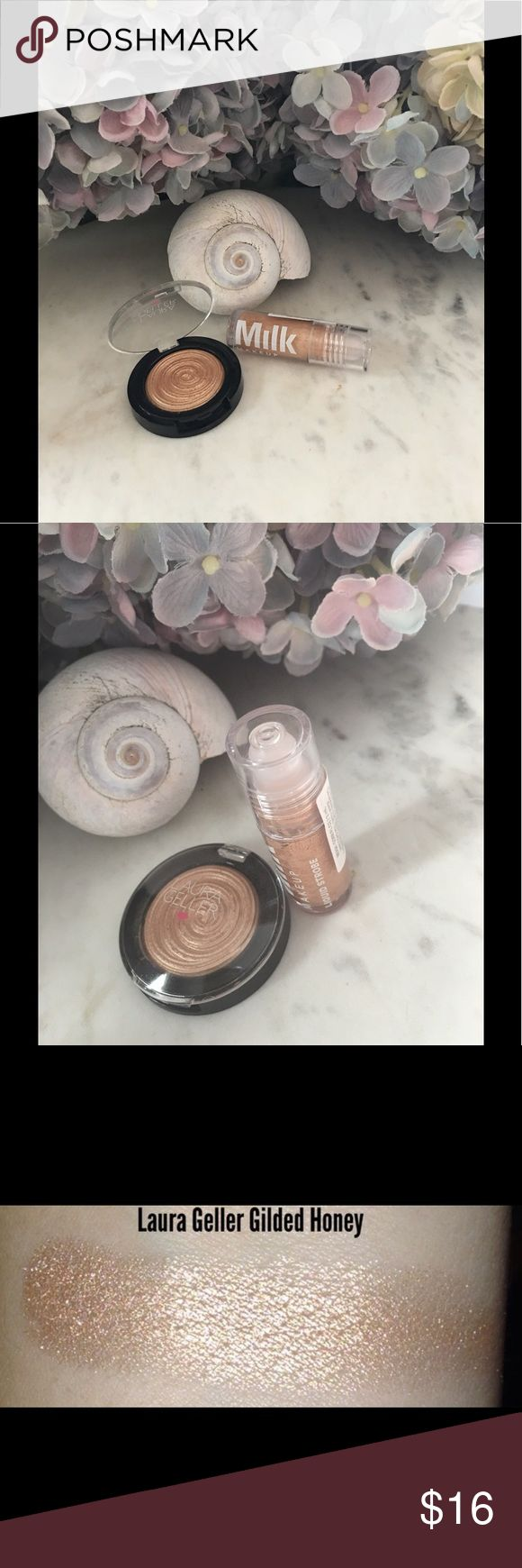 """""""Get Glowing"""" The Laura Gellar gilded honey is a must have for all of you champagne/gold lovers. This is a generous travel size. Gorgeous color and formula. No trades. Bundle up and Enjoy 😊 Sephora Makeup Luminizer"""