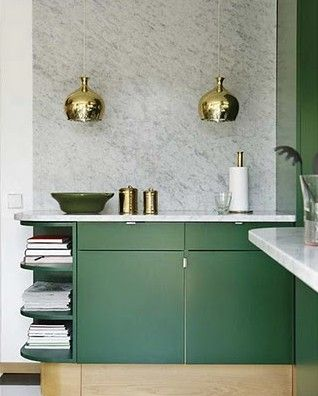 Brass Pendants Create Quite the Combination When Paired with Emerald Green