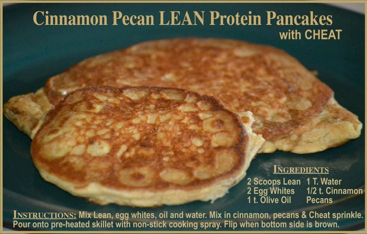 Protein pancakes made with our Lean shake!