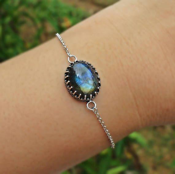 Labradorite Boho Bezel Bracelet, Labradorite 925 bracelet, oval labradorite, bohemian bracelet, sterling silver bracelet, gents bracelet