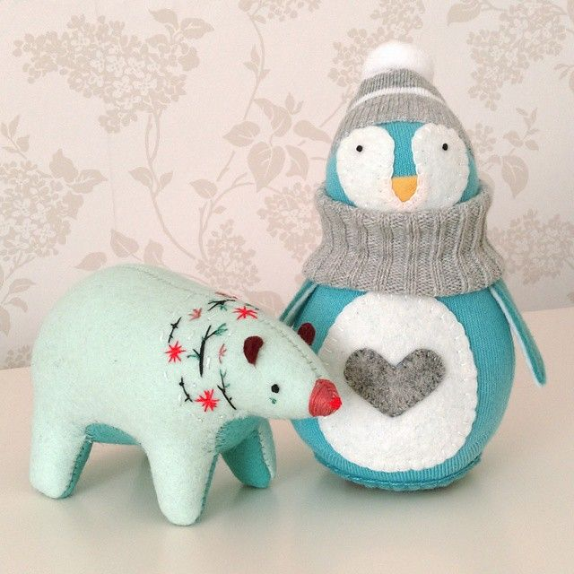#Winter Blues #Soft #Toys by satinandtat