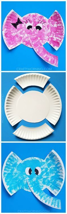 Paper plate elephant craft for kids to make! Adorable